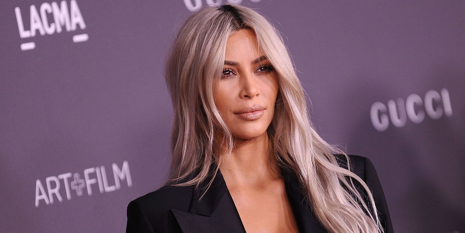 Kim Kardashian Reveals New Ice-Blonde Lob In Raunchy Mirror Selfie