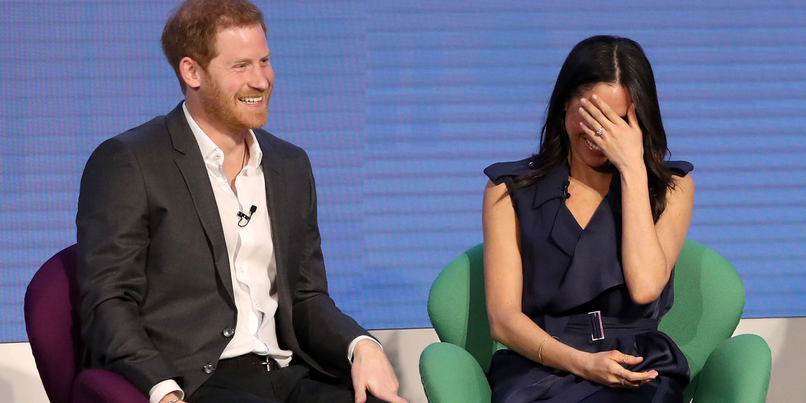 Watch Prince Harry And Meghan Markle Giggle At Liam Payne's Fist Bumps