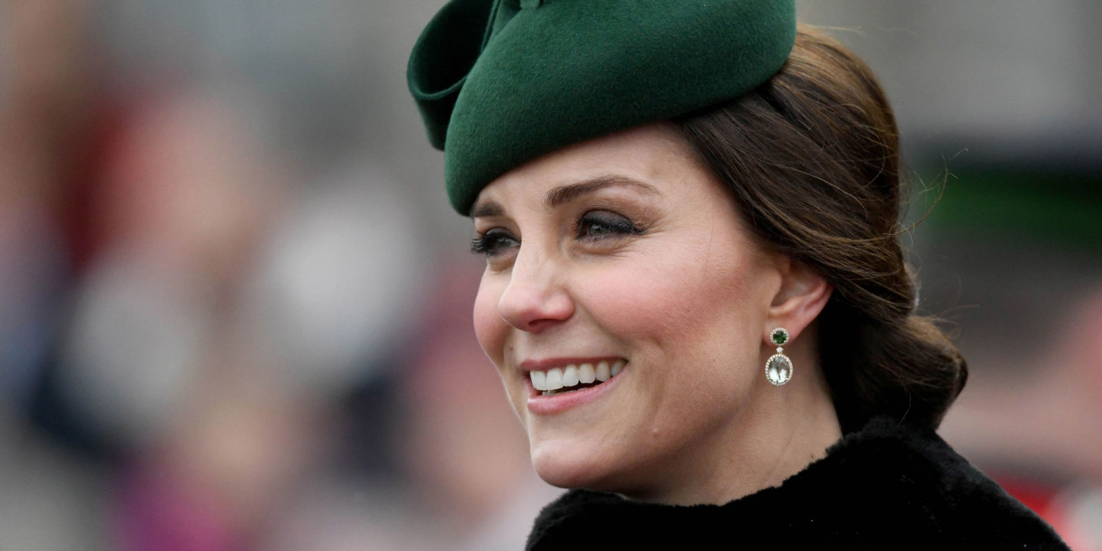 Kate Middleton And Her Baby Bump Were The Cutest In Emerald Green On St. Patrick's Day